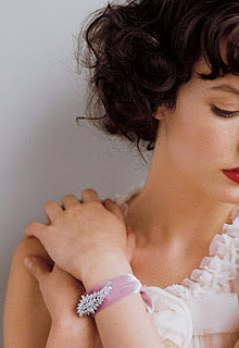 Wordless Wednesday Vintage Brooch Ribbon Bracelet