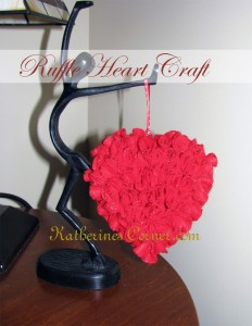 Ruffle Heart Craft Project