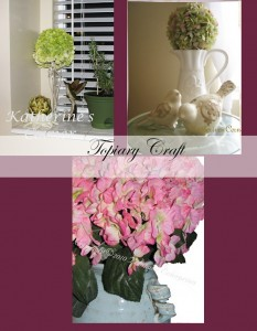 hydrangea topiary craft