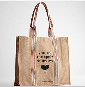 apple of my eye shopping bag katherines corner