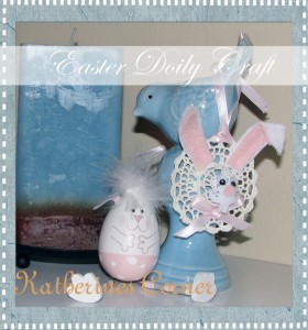 Easter Bunny Doily Craft