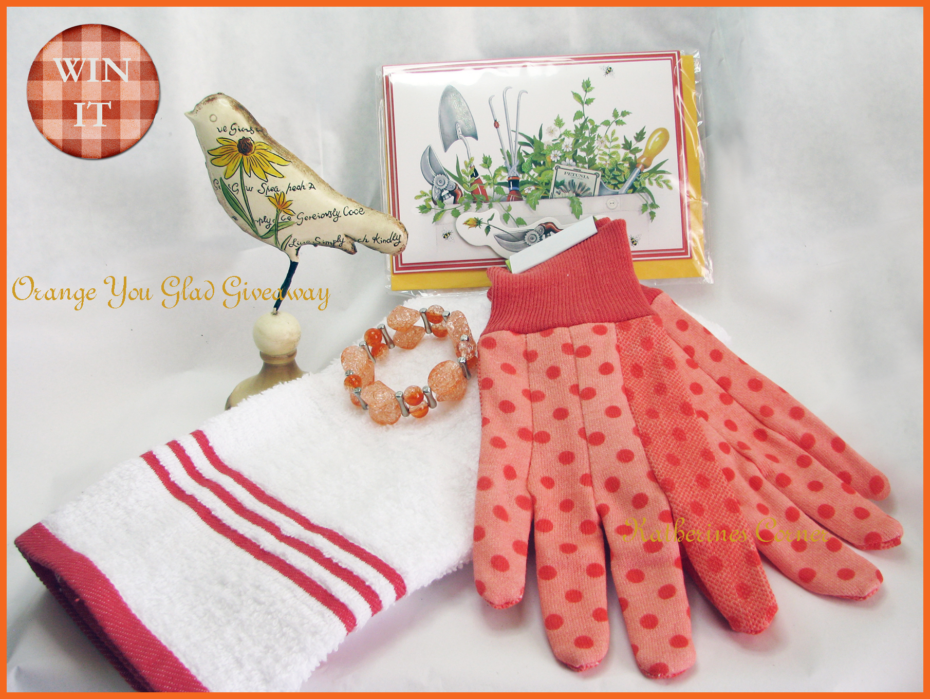 New Giveaway at Katherines Corner, Orange You Glad Giveaway