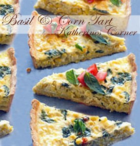 basil and corn tart katherines corner
