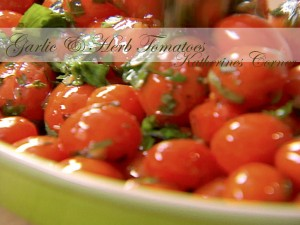 garlic herb tomatoes katherines corner