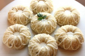 lemon basil bundt cakes