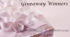 giveaway winners katherines corner