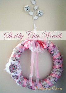 shabby chic wreath diy