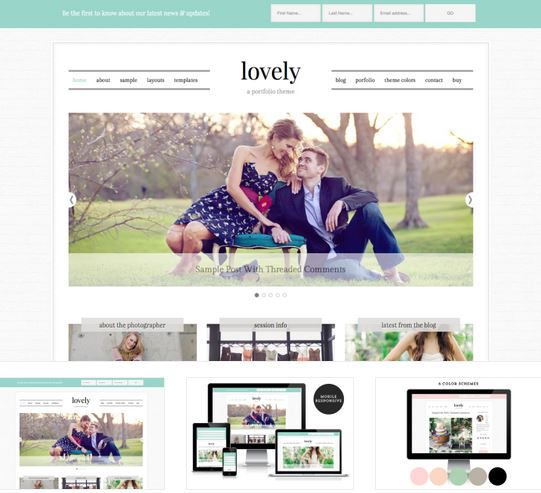 lovely wordpress blog theme