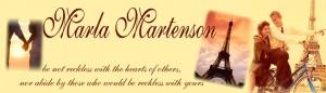 marla martenson personal blog header