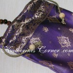 purple mala bag