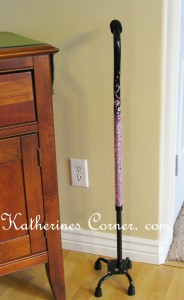 crystal covered walking stick