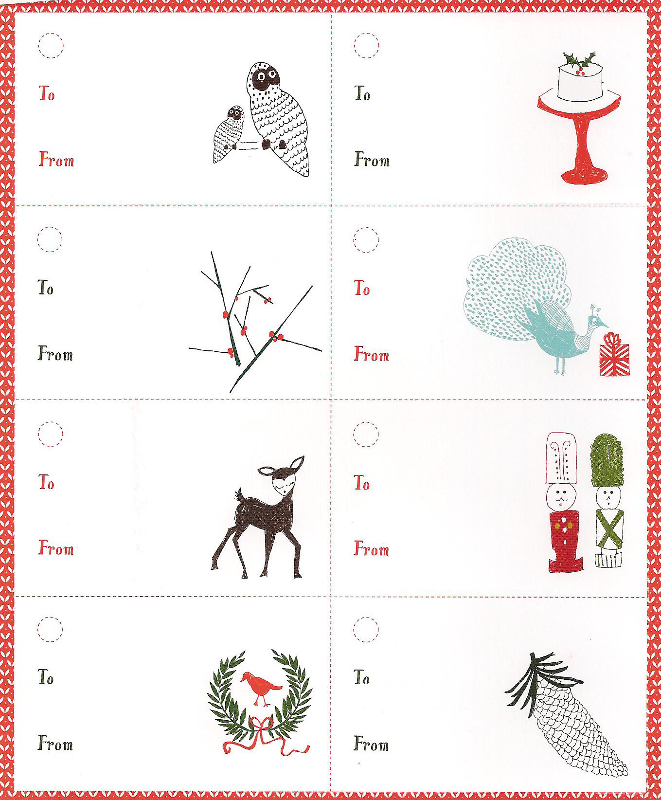 Wordless Wednesday Christmas Printable Tags