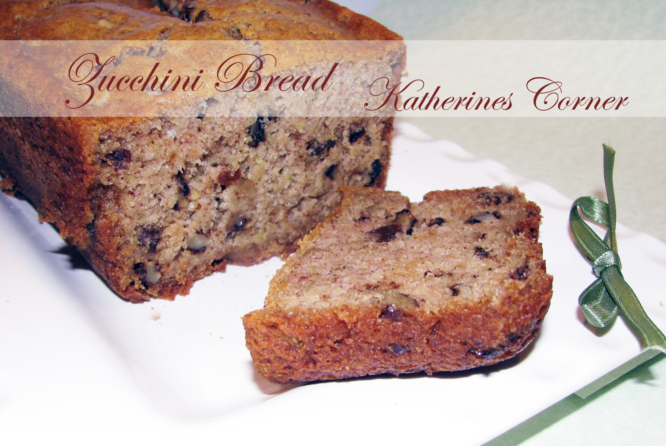 Meatless Monday Katies Super Secret Zucchini Bread