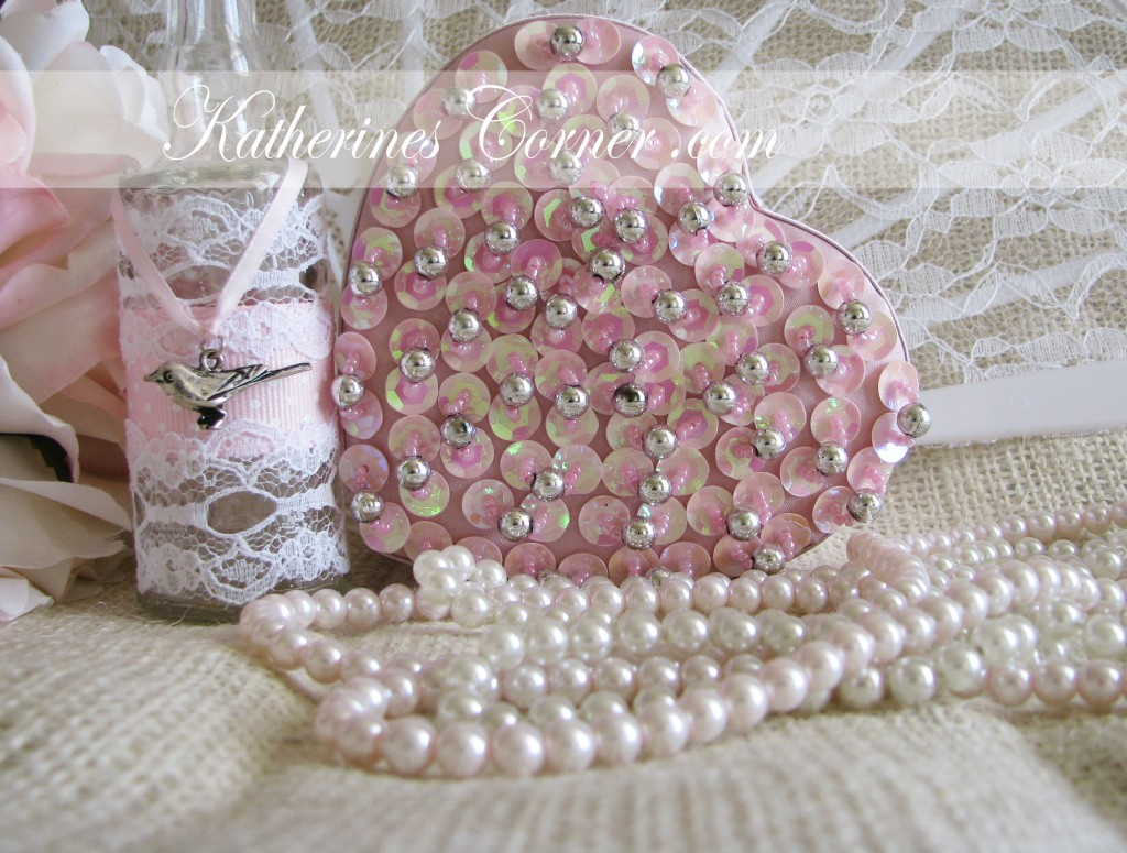 pink sequin heart katherines corner