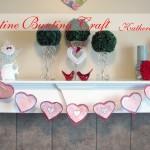 valentine banner bunting craft katherines corner
