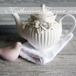 pretty white teapot katherines corner