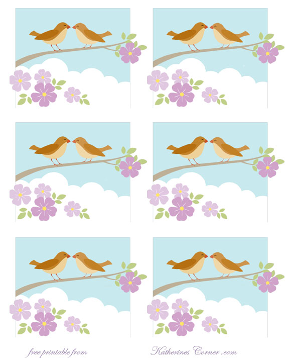 free bird printable labels katherines corner