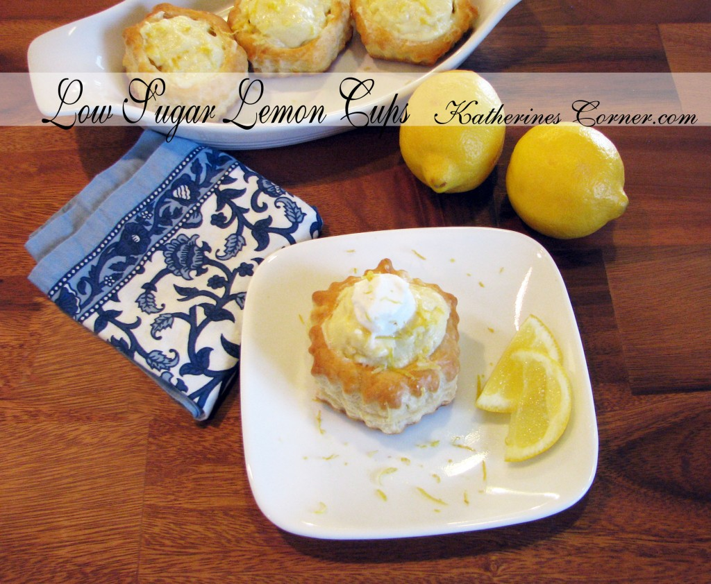 low sugar lemon cups recipe  katherines corner