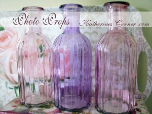 pastel bottles for props Katherines Corner