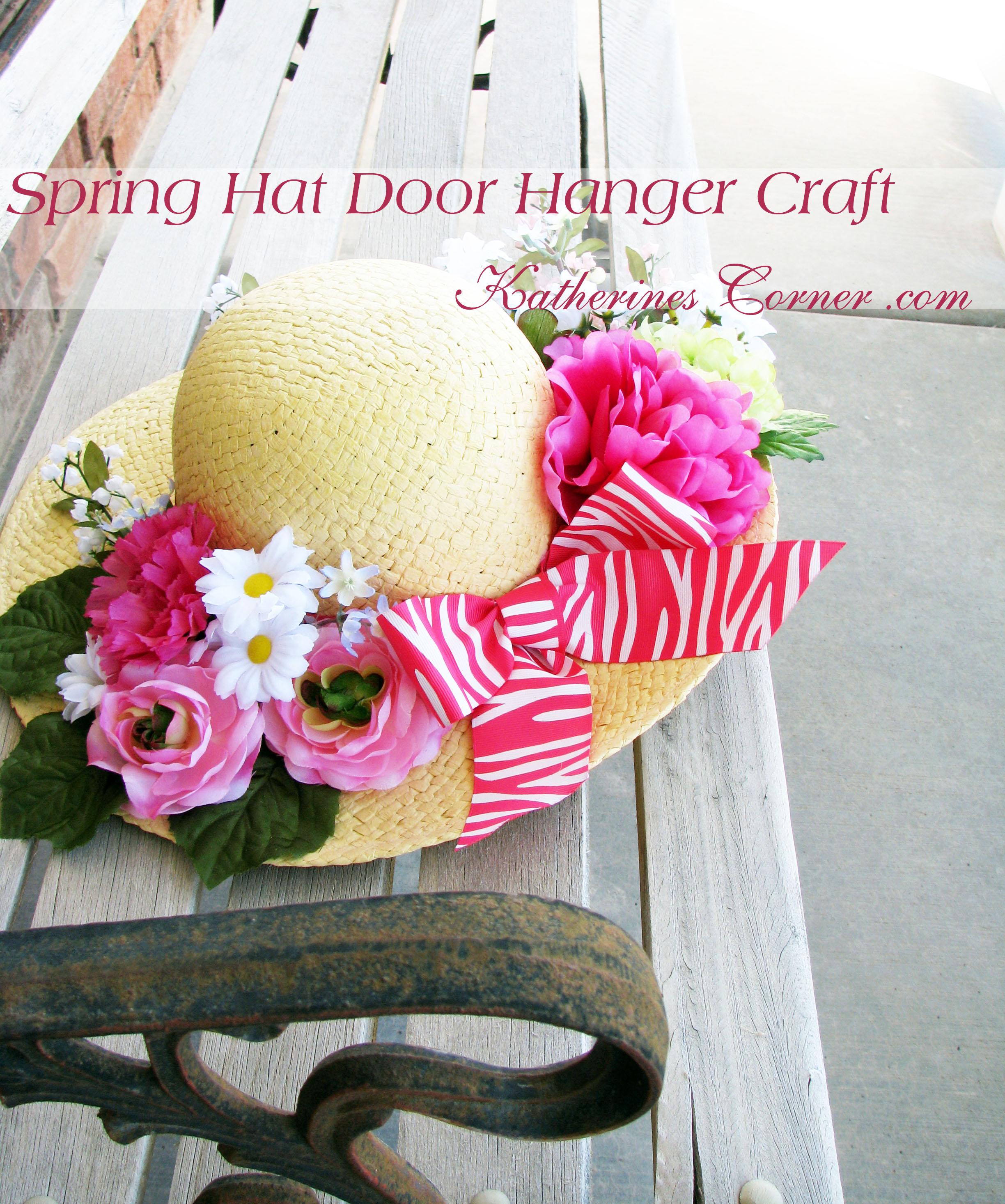 Spring Hat Door Hanger