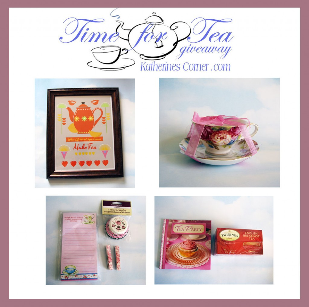 time for tea giveaway prizes katherines corner