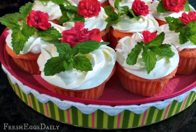 strawberry mint cupcakes