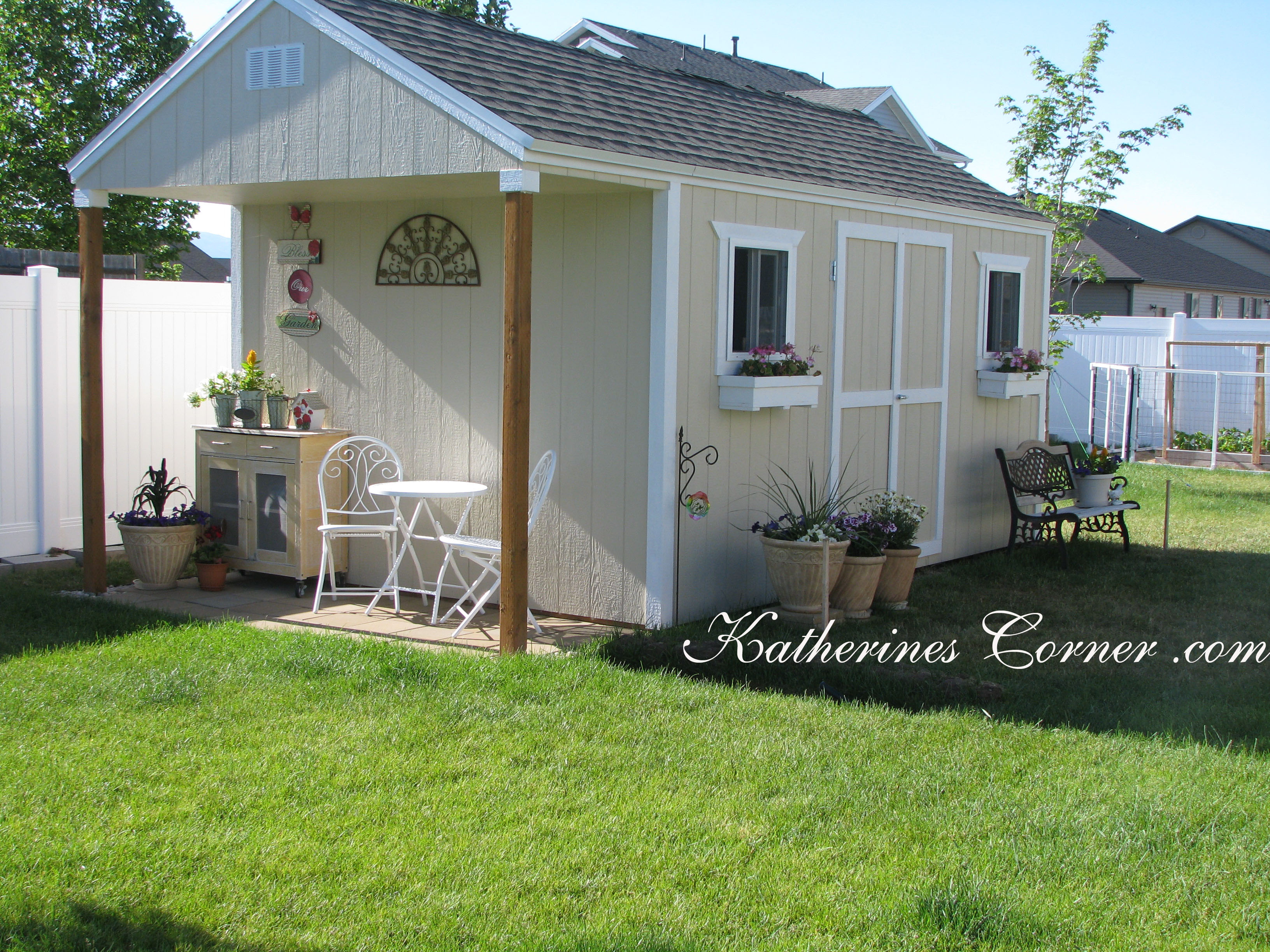 Green garden katherines corner - Cottage garden shed pictures ...
