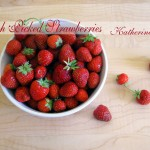 fresh picked strawberries, food photography