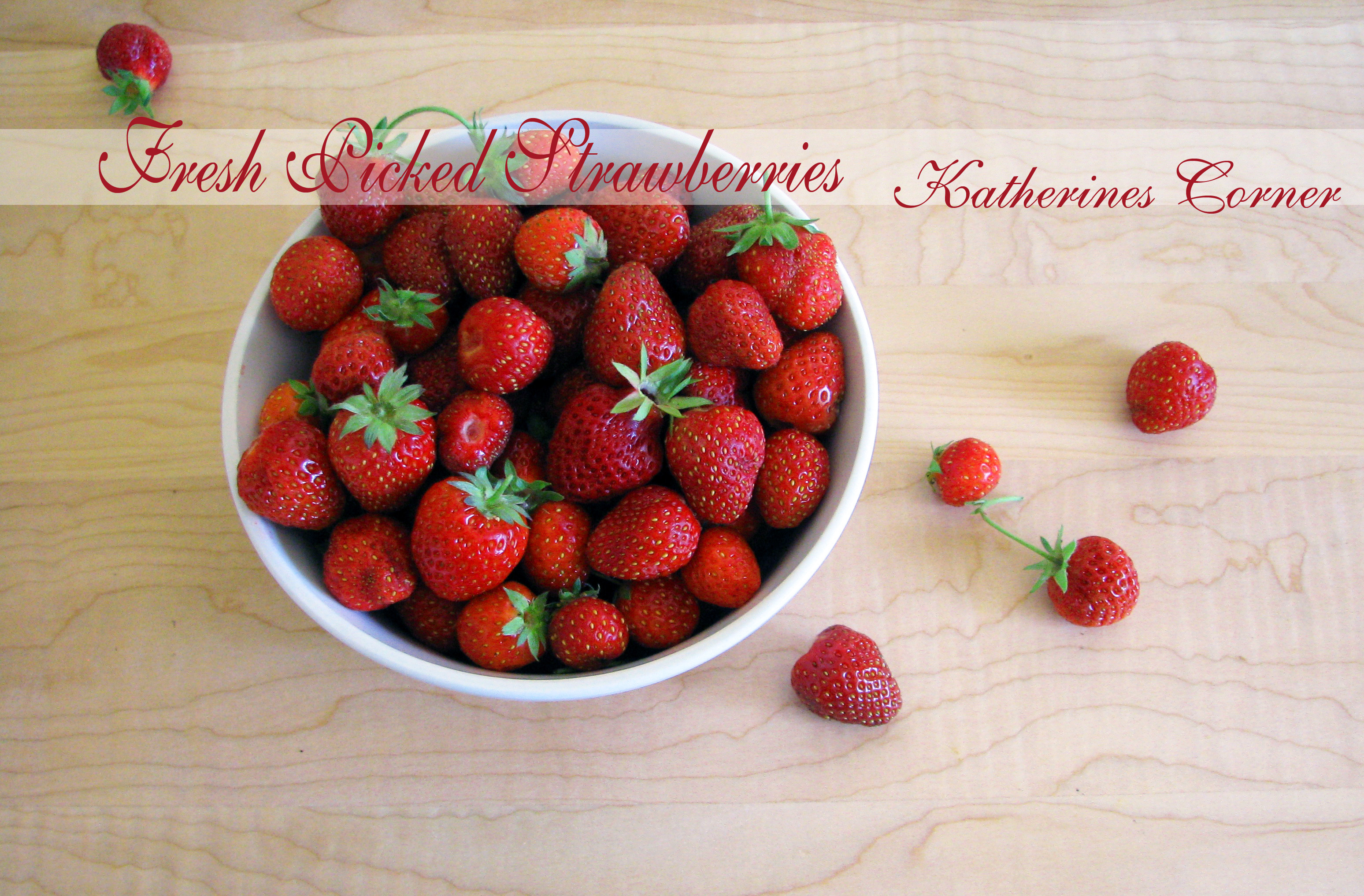 First Pick Red Delicious Strawberries and Recipes