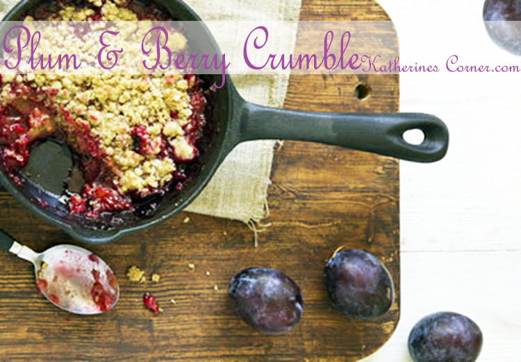 Plum and Berry Crumble