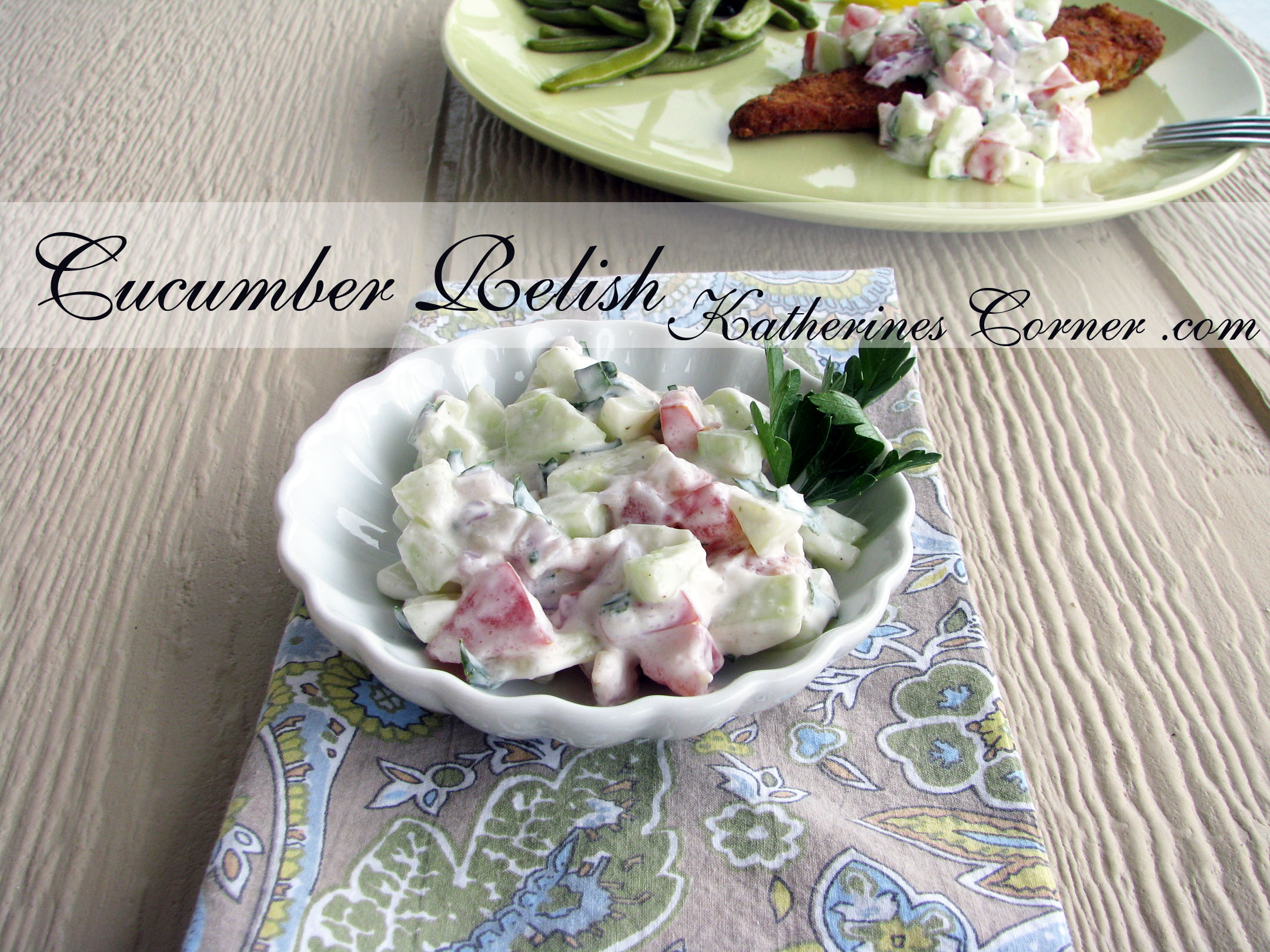 Fresh Cucumber Relish
