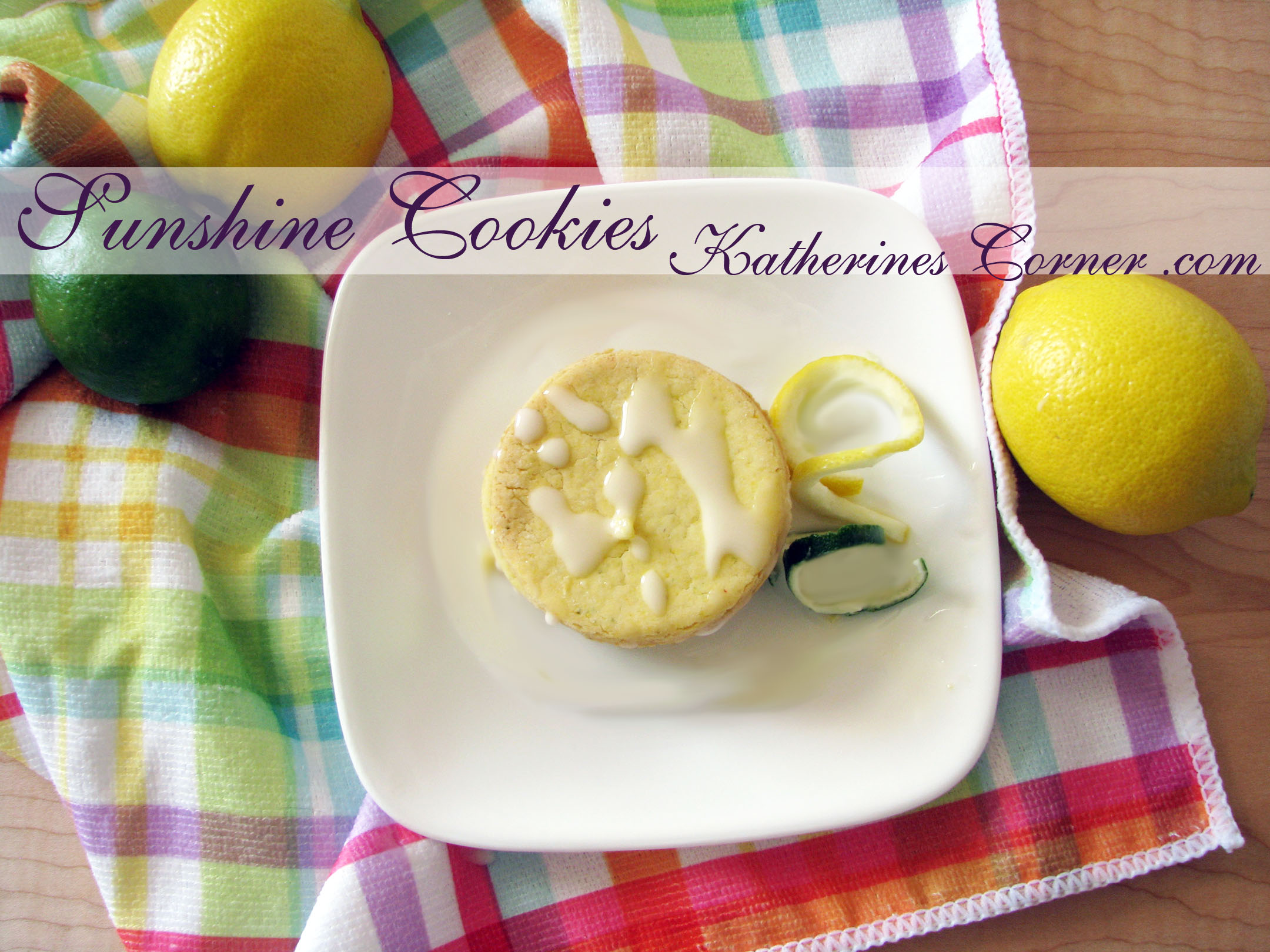Sunshine Cookies Low Sugar Gluten Free - Katherines Corner
