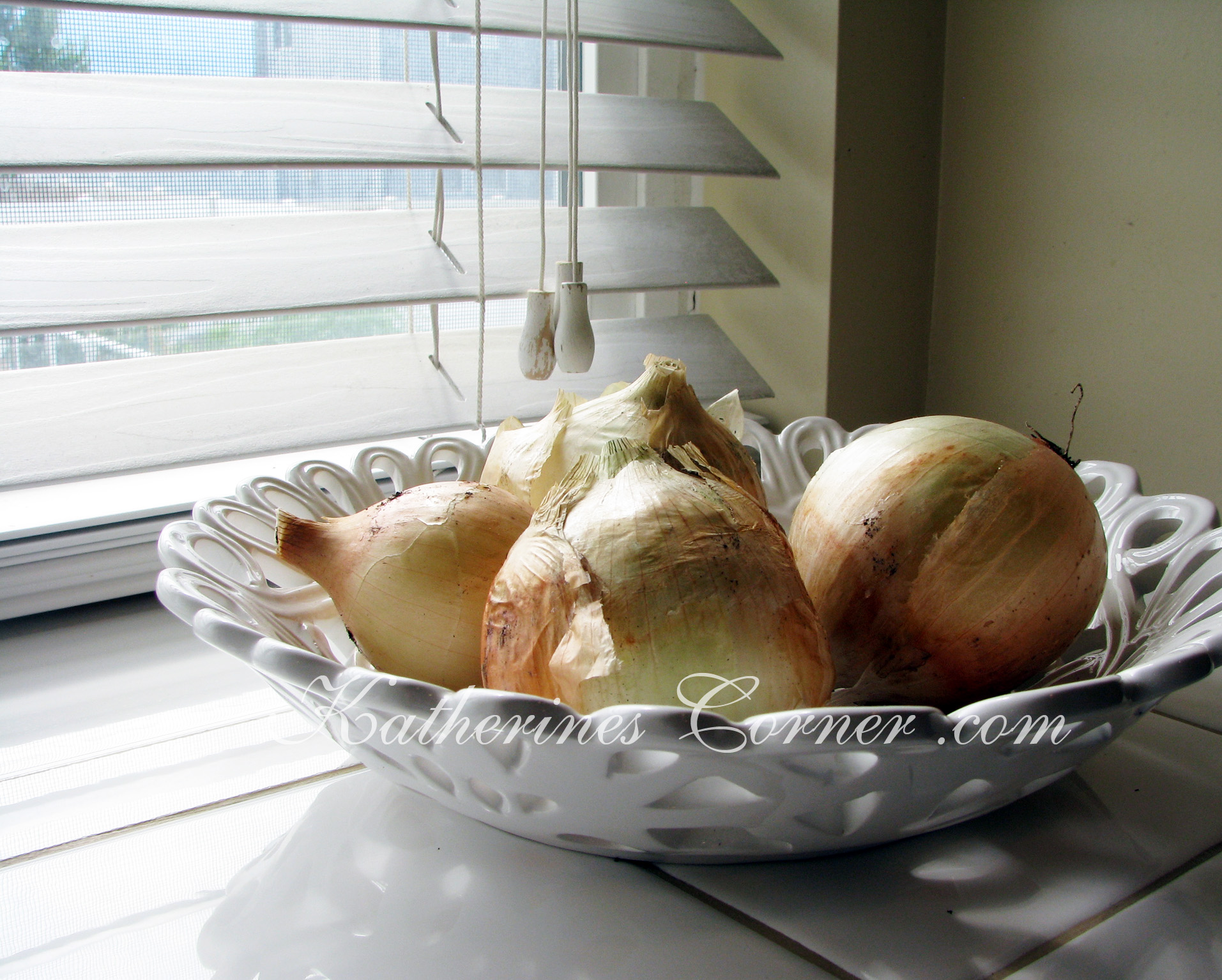 Onions On The Windowsill