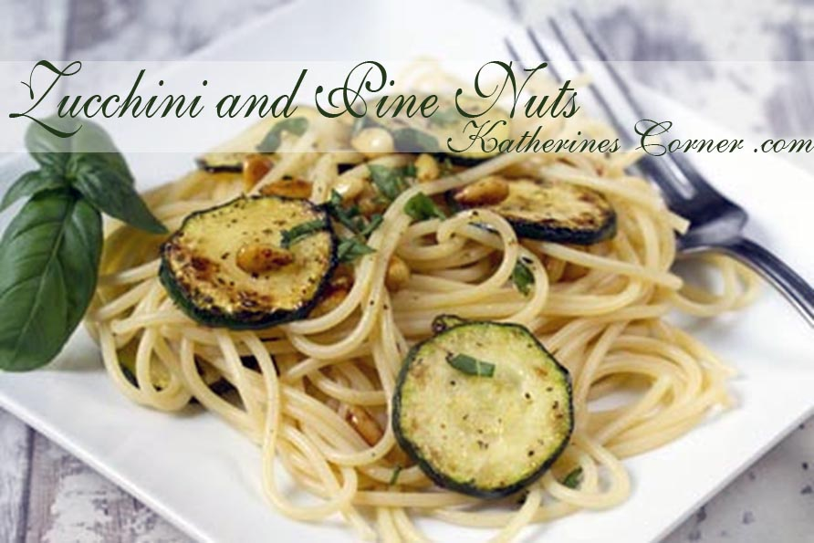 Pasta with Zucchini and Pine Nuts