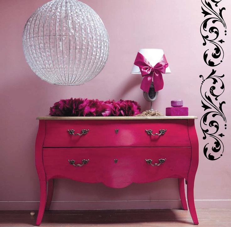 fucia pink dresser