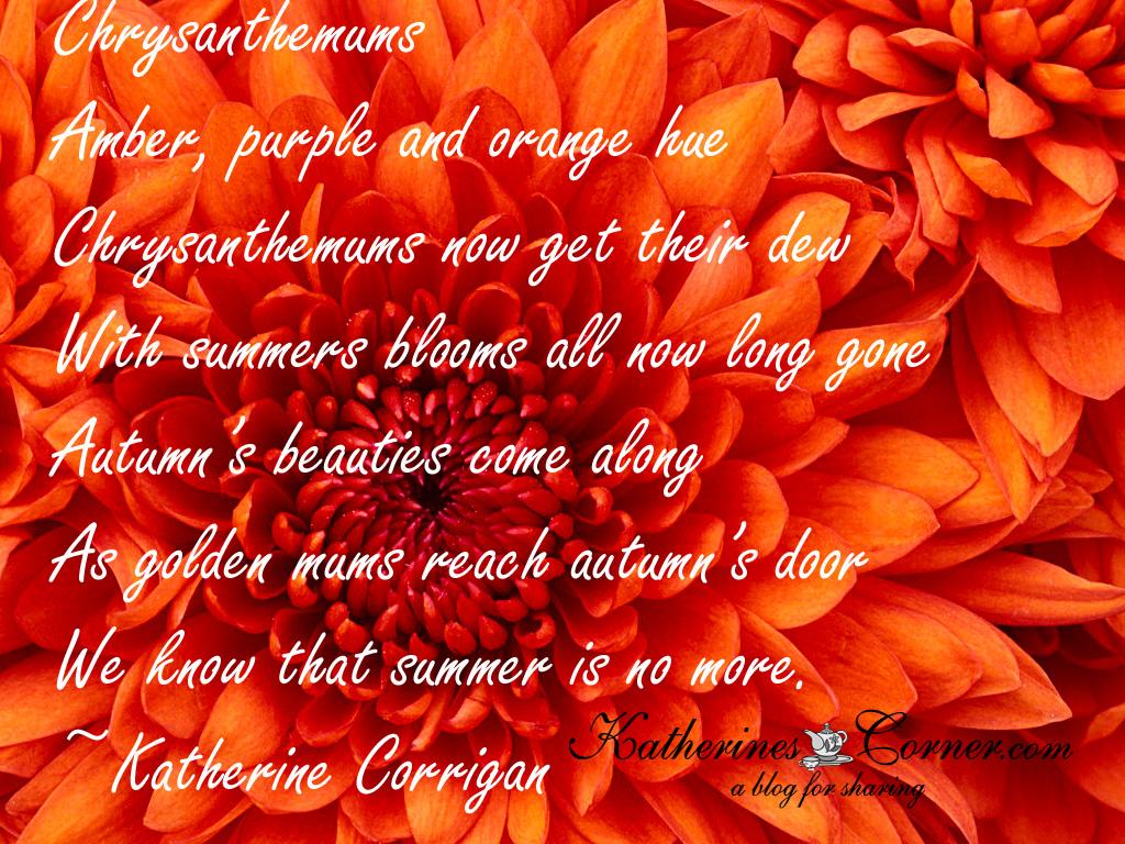 Chrysanthemum poem