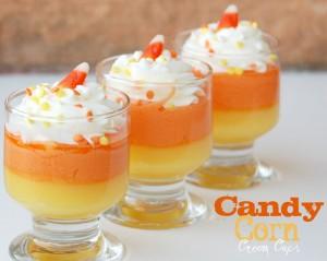 candy corn dessert cups