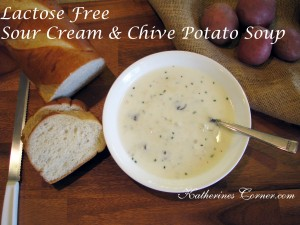 Lactose Free Sour Cream Chive Potato Soup