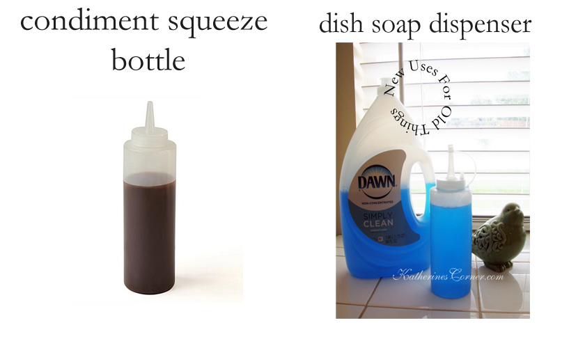 new uses for old things dish soap dispenser