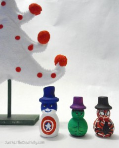 super hero snowmen
