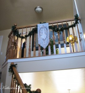 angel on stairs