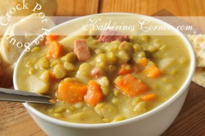 crock pot pea soup recipe