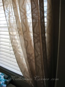 taupe curtains