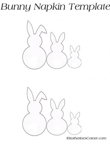 bunny napkin template for easter napkins katherines corner