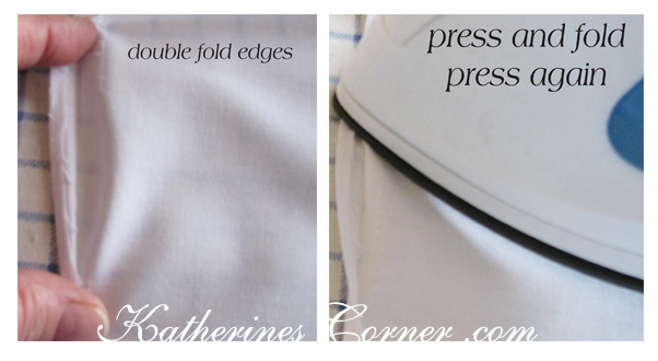 how to sew a napkin rolled edge katherines corner