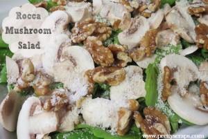 rocca mushroom salad