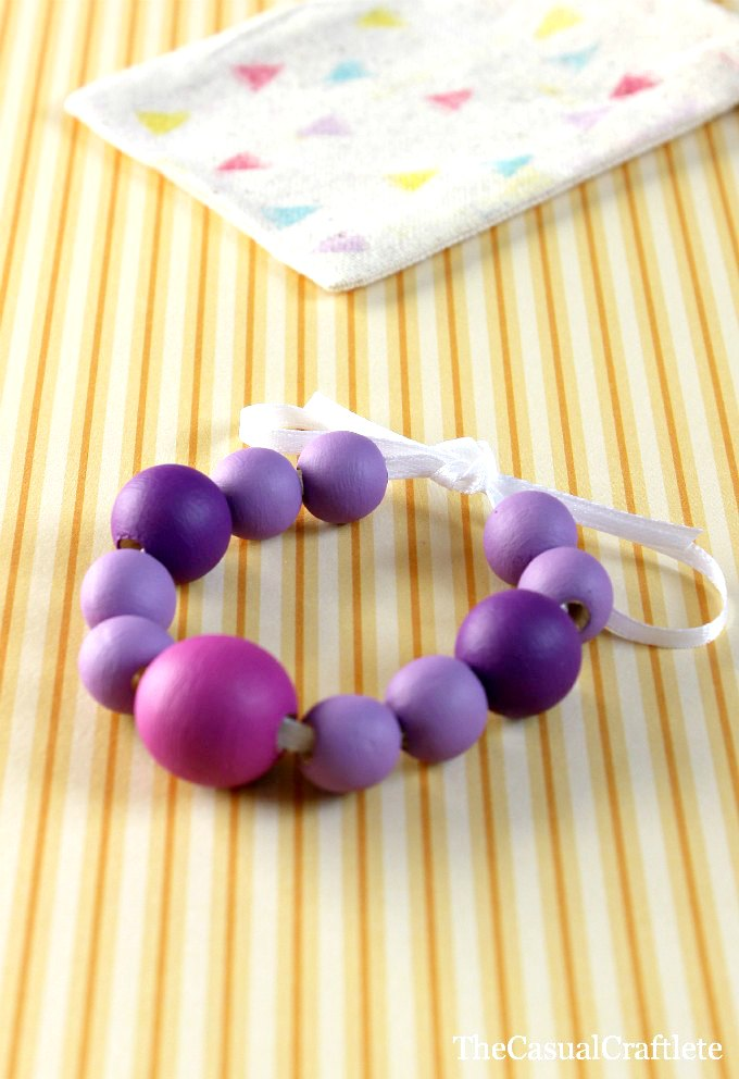 painted wood bracelet