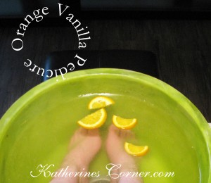 orange vanilla pedicure