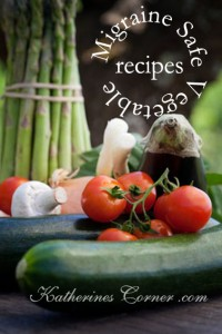 migraine safe vegetable recipes
