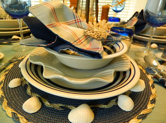 nautical tablescape